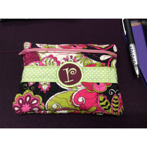 Green R Cosmetic Bag