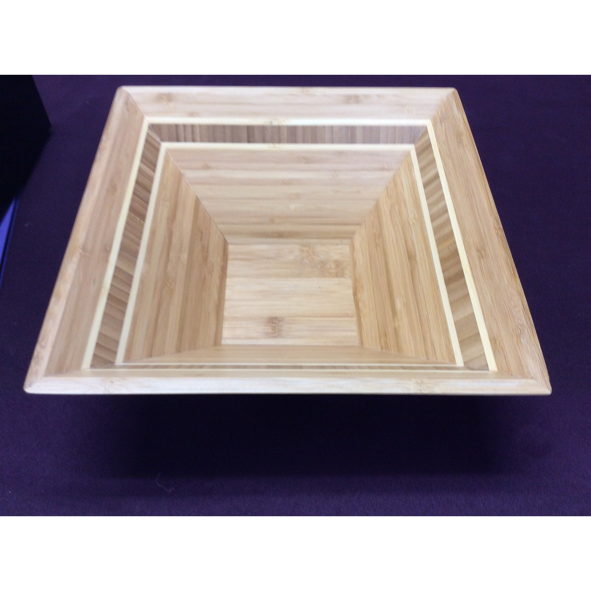 Bamboo Square Bowl- 12""