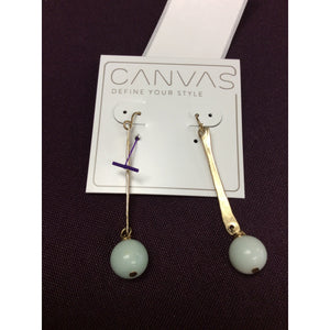 Amazonite Bar Drop Earrings