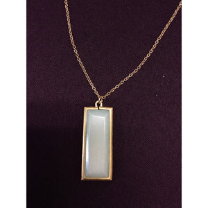 Amazonite Rectangle Gemstone Necklace