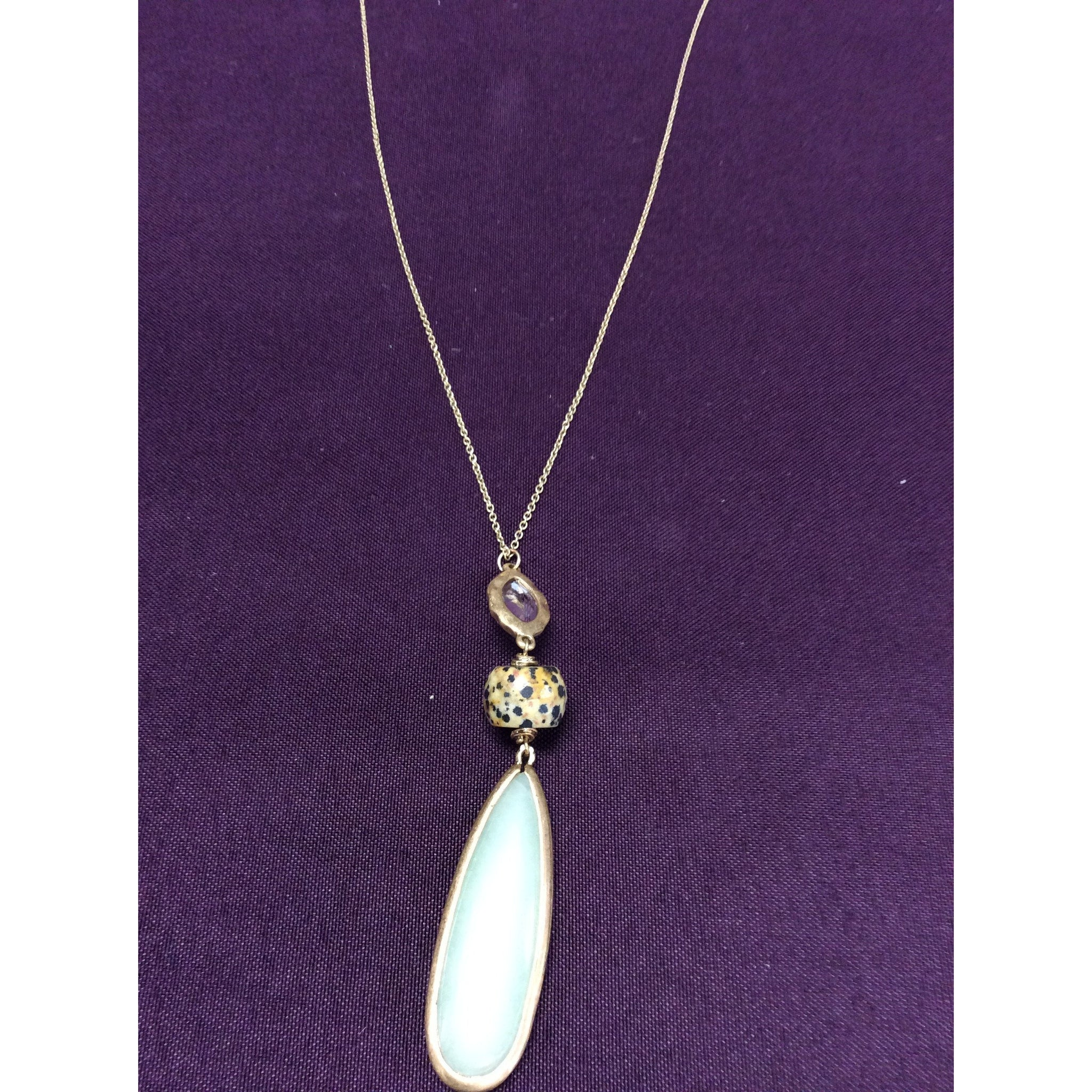 Amazonite Teardrop Gemstone Necklaces