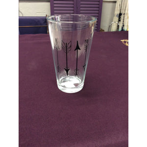 Arrows Pint Glass