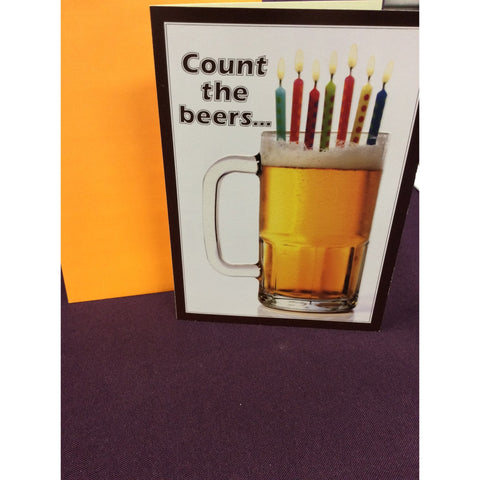 Candles on Beer Greeting Card