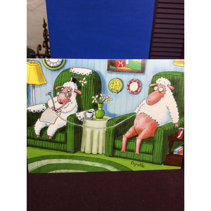 """Close Knit Couple"" Greeting Cards"