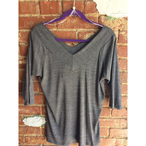 Dark Gray Plus Size Top