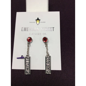 Emerson OU Silver Earrings