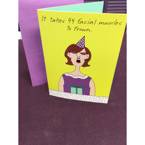 """Facial Muscles"" Greeting Card"