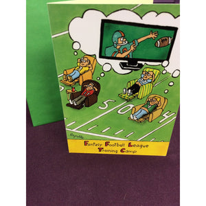 """Fantasy Football League"" Greeting Card"