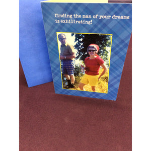 """Finding the man of your dreams.."" Greeting Card"