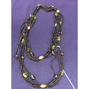 Brown Beaded Necklaces