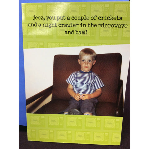 """Night Crawler in the microwave"" Greeting Card"