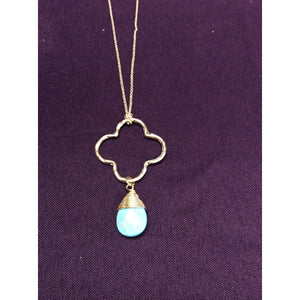 Quartrefoil turquoise Necklace