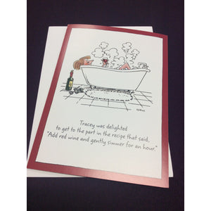"""Simmer for an Hour"" Greeting Card"