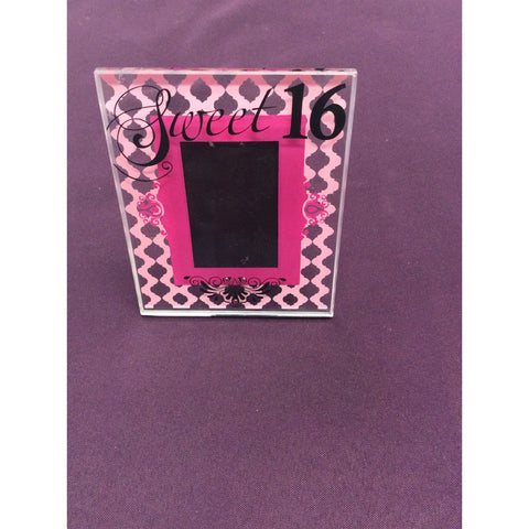 """Sweet 16"" Glass Frame"