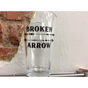 Broken Arrow Pint Glass