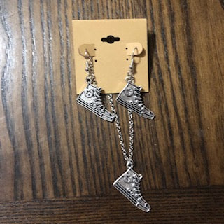 Silver High Top Necklace/Earring Set