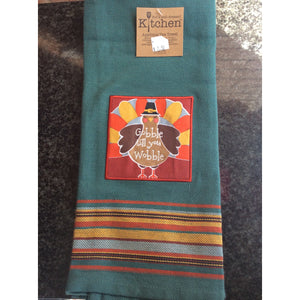 Gobble till you Wobble Hand Towel