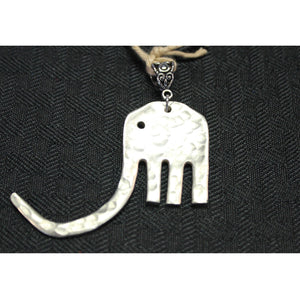 Hammered Elephant Pendant