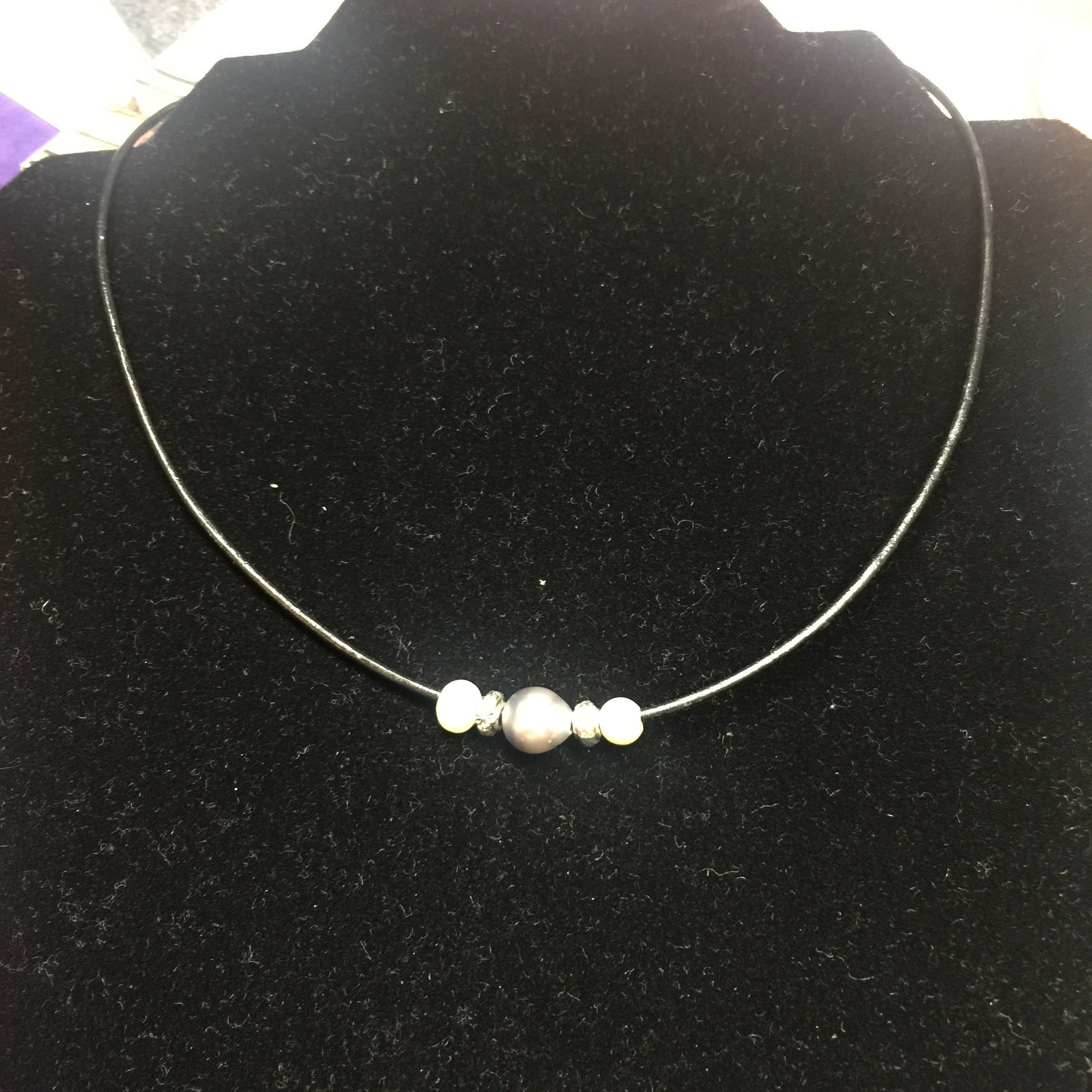 "18"" Tahitian Pearl and Black Necklace"