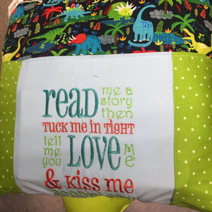 Kiss Me Goodnight Baby Pillow with Frogs with Matching Story Book