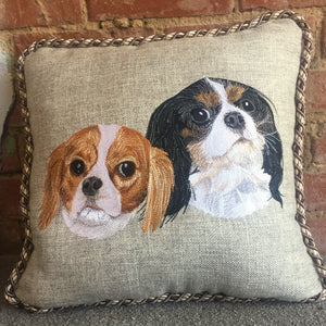 Custom pillow-2 dogs