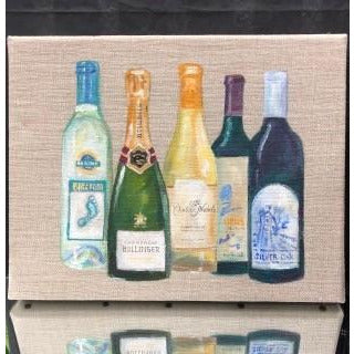 Hand Painted Bottle with Acrylic Paint on Linen Box-Large