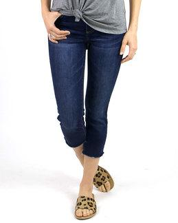 Classic mid-rise pull on cropped jegging