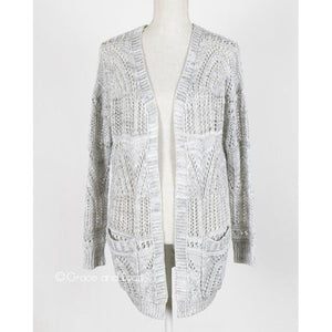 Oyster Grey Oversized Pocket Cardigan