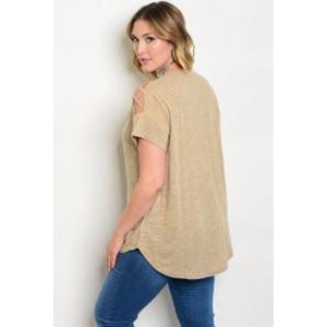 Plus Size Taupe Top