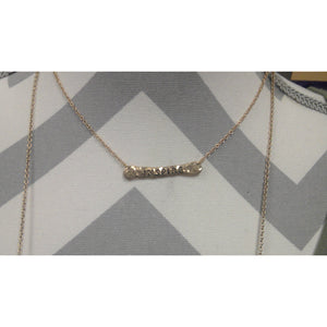 Gold Inspire Delicate Bar Necklace