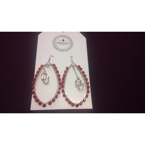 OU Multi Stone Earrings