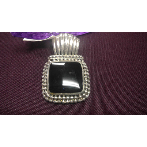 Pendants BLACK ONYX LARGE SQUARE