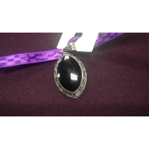 Pendants BLACK ONYX LARGE OVAL
