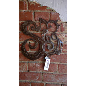 Sing Metal Wall Plaque