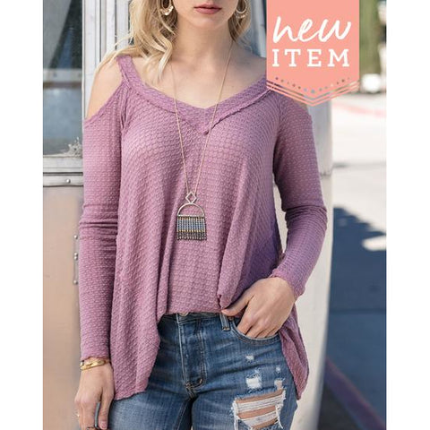 Feather Light Waffle V-Neck Top