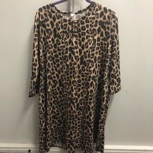 Perfectly Plus Leopard Print Dress with Pockets