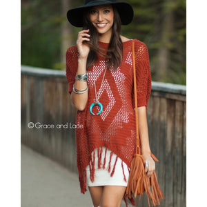 Aztec Fringe Sweater