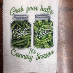"Kitchen ""Grab your balls"" Canning Hand Towel"