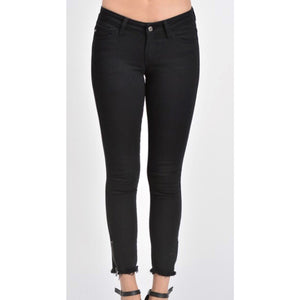 KanCan Black Jeans with Zippers at Ankles