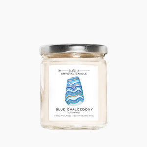 JaxKelly - Blue Chalcedony Candle - Calming | 9 oz