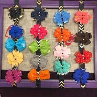 Children's Glitter Hair Bows