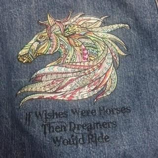 Jean Jacket with saying on back