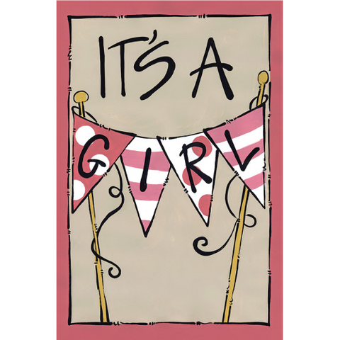 """It's a Girl"" Flag"