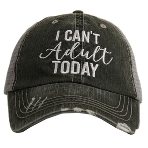 """I Can't Adult Today"" Trucker Hat"