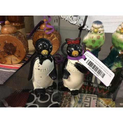 Millie And Willie Vintage Penguin Salt And Pepper Shakers