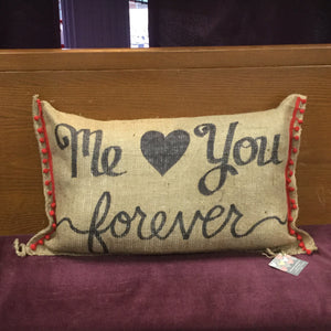 Burlap Pillow Case with Fun Sayings