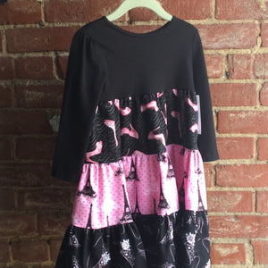 Black Paris tshirt dress