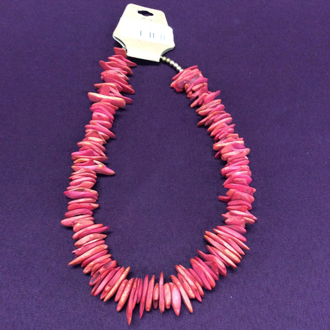 Red Coral Shale Necklace