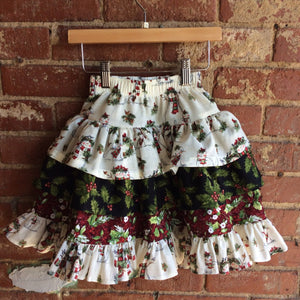 Layered Christmas Skirt