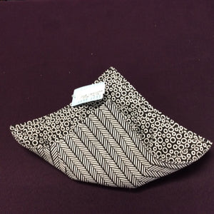 Bowl Cozy - Black & White Small Circles/Black & White Chevron